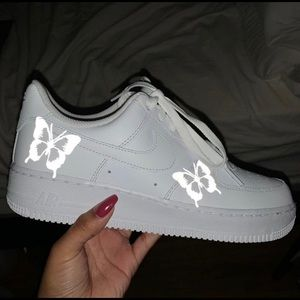 Butterfly Air Force 1's reflective
